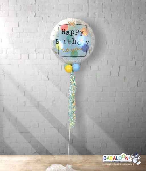 Picture of Folienballon Birthday Present mit Deko