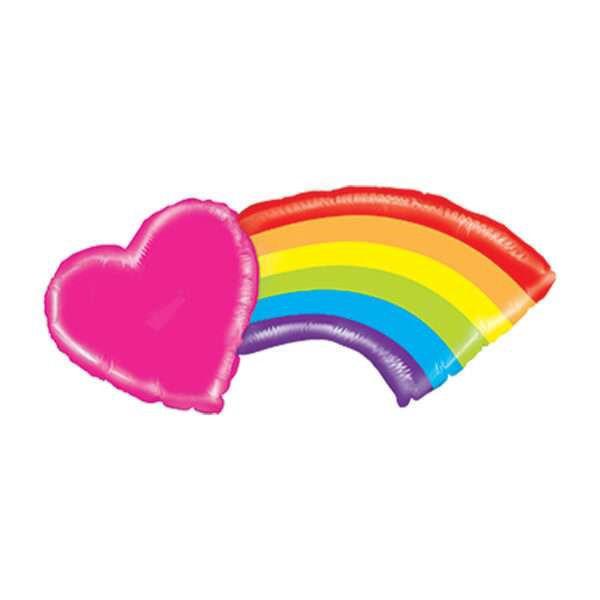 Picture of Mighty Heart Rainbow - Folienballon
